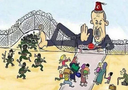 Turkish-support-of-ISIS-and-closing-border-to-Kurdish-and-Syrian-refugees
